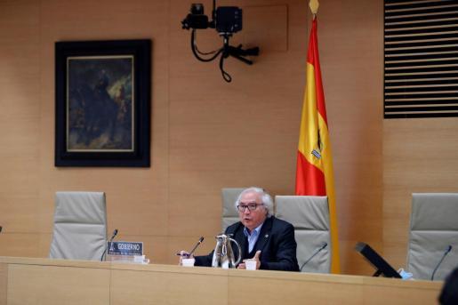 El ministro de Universidades, Manuel Castells, comparece ante la Comisión de Universidades del Congreso para explicar cómo será el fin de curso en el sistema universitario.