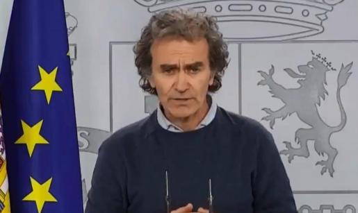 Fernando Simón, durante su rueda de prensa de este viernes.