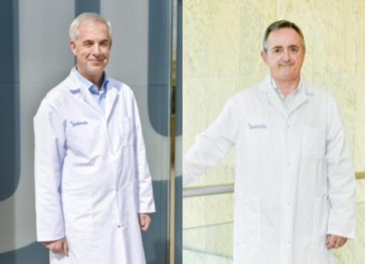 Los doctores Luis Alberto Gómez Gómez y Luis Masmiquel Comas.