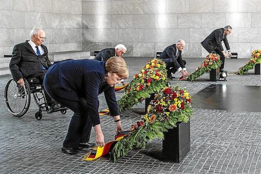 La canciller alemana Angela Merkel durante un acto del aniversario.