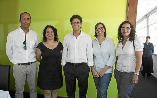 Nicolás Morell, Irene Llull, Frederic Mudoy, Paula Gual y Mariona Luis.