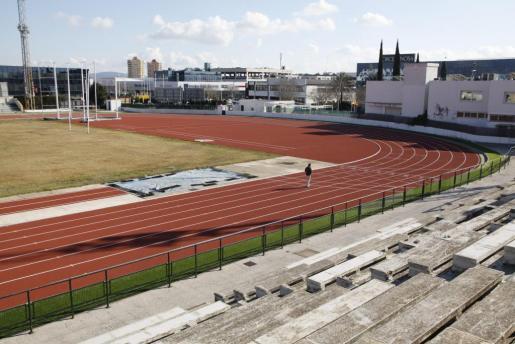 Imagen de la pista de atletismo del polideportivo Príncipes de España.