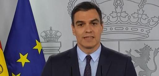 Pedro Sánchez, durante su comparecencia de este sábado.