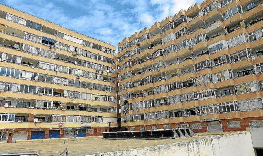 Vista general de los edificios Pullman, en los que residen cientos de familias.