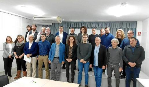 Reunión del pasado febrero de Cladera y Alzamora con alcaldes del Pla, Migjorn y Llevant.