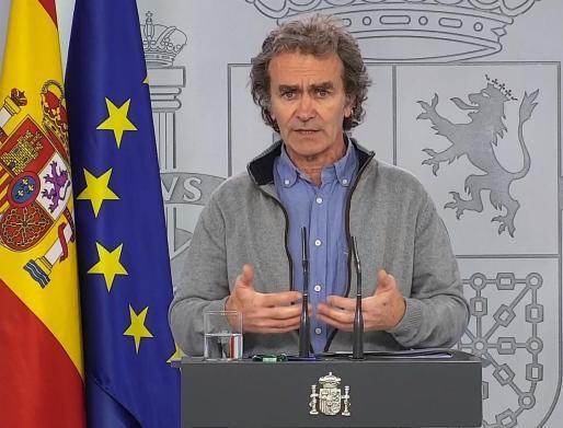 El director del Centro de Alertas y Emergencias Sanitarias del Ministerio de Sanidad, Fernando Simón.