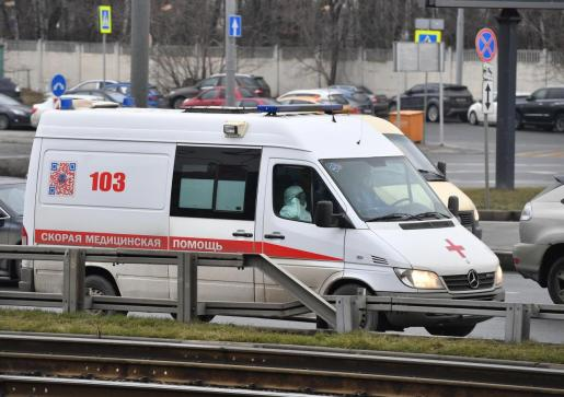 Imagen de archivo de una ambulancia en Moscú.