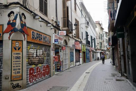 Negocios de Palma cerrados durante el estado de alarma.