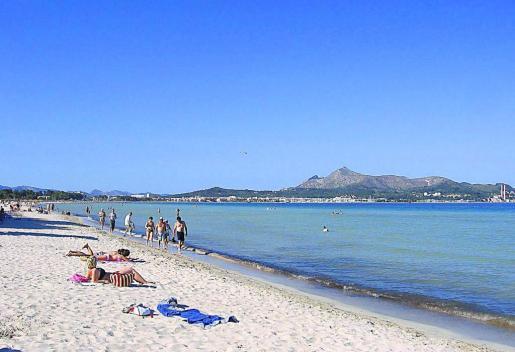 La larga playa de Alcúdia dispone de un fabuloso paseo para, además de disfrutar de sus aguas, poder realizar paseos en bicicleta o a pie.