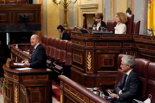 El ministro de Justicia, Juan Carlos Campo, durante su intervención en el Congreso.
