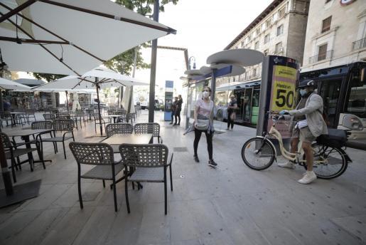 Imagen de una terraza en Palma.