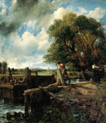 'La esclusa', de John Constable, subastado hoy en Londres.