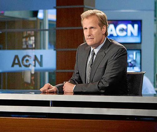 Jeff Daniels interpreta a un presentador de una televisión por cable en 'The Newsroom'.