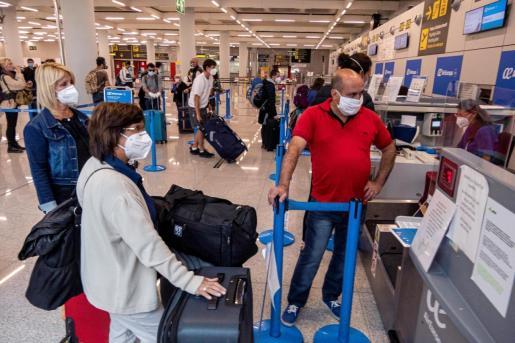 Zona de embarque del Aeropuerto de Palma.