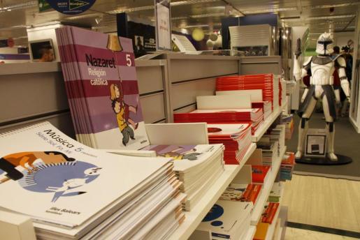 Imagen de archivo de la venta de libros de texto en El Corte Inglés.