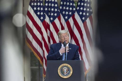 El presidente de Estados Unidos, Donald Trump, durante una rueda de presna en Washington.