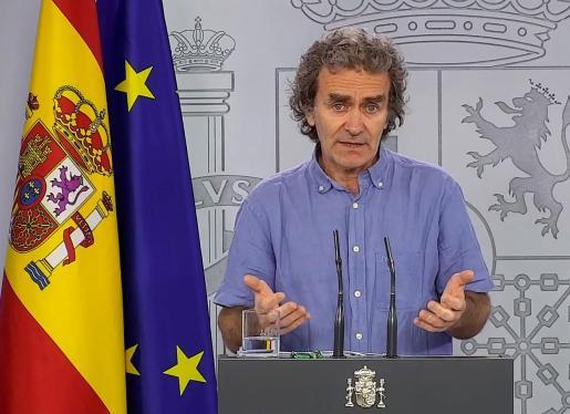 Fernando Simón, este sábado durante su rueda de prensa diaria.