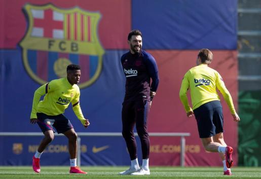 Imagen de archivo de un entrenamiento del Barça.
