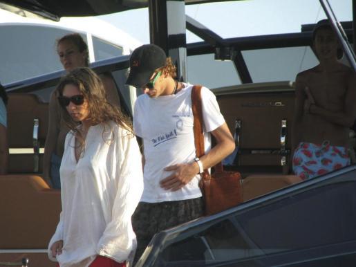 Andrea Casiraghi y su futura mujer, Tatiana Santodomingo, durante unas vacaciones en Ibiza.