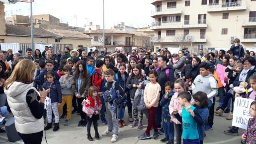 Los padres y madres de ses Comes protagonizaron varias manifestaciones para reclamar el inicio de las obras.