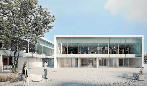 Proyección del edificio multifuncional de Cala d'Or que acogerá diferentes dependencias municipales.