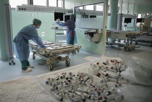 Imagen de la UCI del Hospital Son Llàtzer.