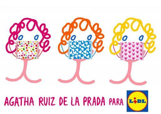 Imagen del diseños de las mascarillas de Agatha Ruiz de la Prada.