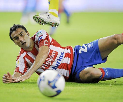 Imagen del lateral derecho Rafel Sastre en su etapa como jugador del Sporting de Gijón.