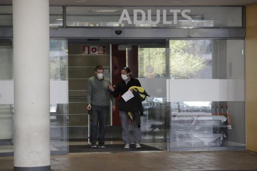 Salida del hospital de Son Espases.
