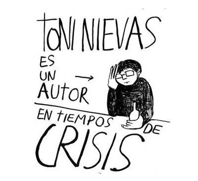 Toni Nievas presenta en Literanta la antología de ilustraciones que acaba de publicar. Su trabajo es una (auto)parodia del egotismo desmesurado propio del artista; en él plasma la imposibilidad de conseguir empleo y conservar la dignidad hoy día...