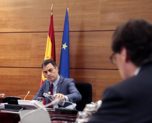 El presidente del Gobierno, Pedro Sánchez, durante la reunión del Consejo de ministros.