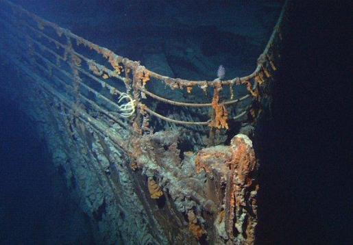 Los restos del Titanic descansan en el fondo del Atlántico Norte.