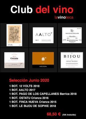 Selección del Club del Vino de La Vinoteca para junio de 2020.