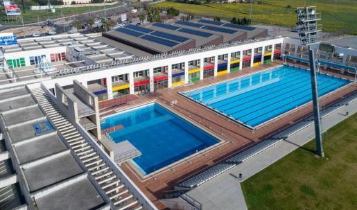Imagen aérea de las piscinas de Son Hugo, en Palma.