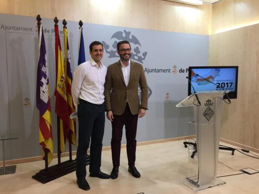 El edil d'Hisenda, Adrián García, era el respondable de la informática municipal y José Hila el alcalde en2016.