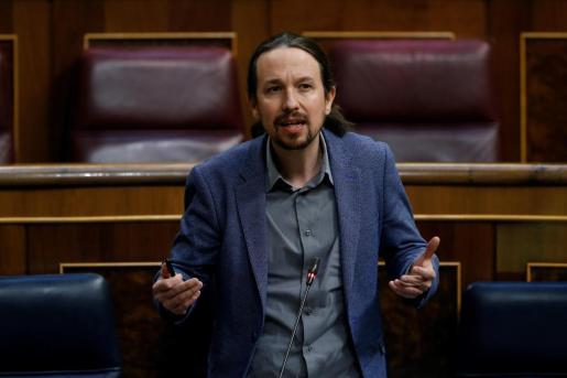 El vicepresidente tercero del Gobierno y secretario general de Podemos, Pablo Iglesias.