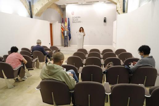 Rueda de prensa de Pilar Costa de la mañana de este viernes donde todavía no se había llegado a un acuerdo sobre la moratoria urbanística.