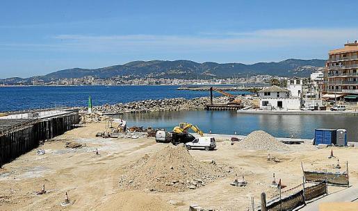 Imagen del estado actual de las obras en la zona marítima.