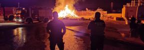Incendio en la cementera del polígono Son Bugadelles