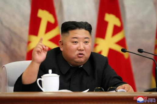 Imagen del líder de Corea del Norte, en un acto público.
