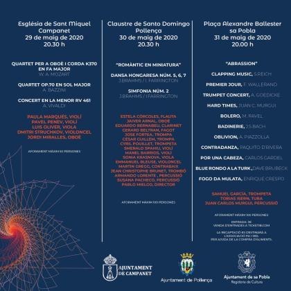 Programa del ciclo '#Sonempertu' de la Orquestra Simfònica de les Illes Balears.