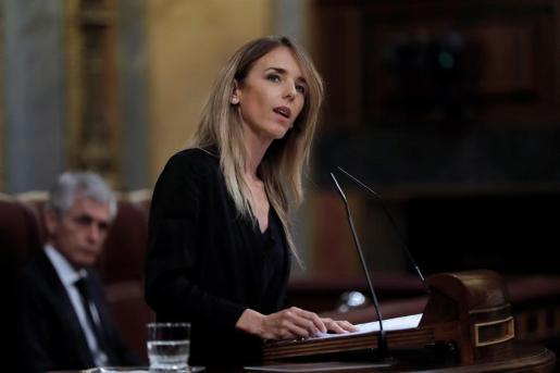 Imagen de la portavoz del PP, durante su intervención en el Congreso.