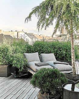 Una terraza es suficiente para disfrutar de un pequeño rincón paradisíaco, aislado del resto.
