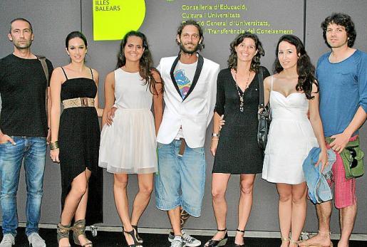 Joan Muñoz, Carla García, Alba Lampurlanes, Nicolás Mastroprieto, Irene Mulet, Antonella Font y Guillem Bernat.