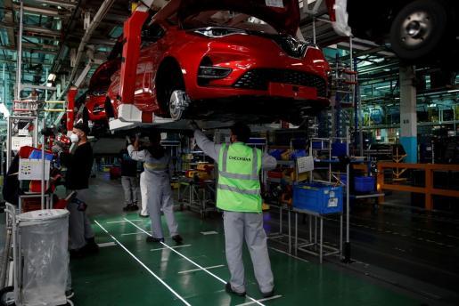 Imagen de empleados de Renault en Francia.