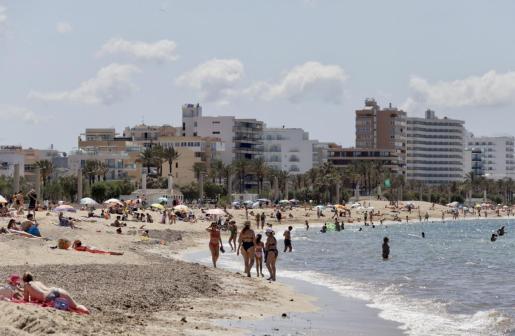 Imagen de este sábado de la Playa de Palma.