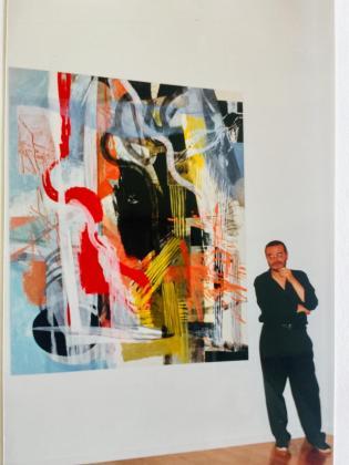 Xavier Grau, en la galería Maior de Pollença.