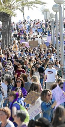 Manifestación en Palma del pasado ocho de marzo.