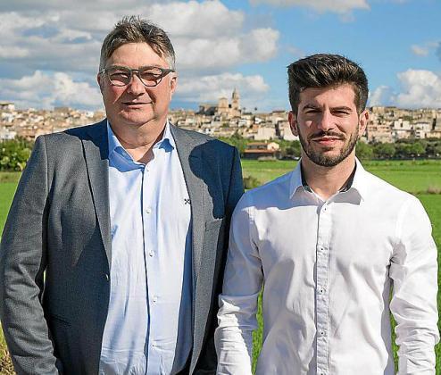 El alcalde Joan Verger y el regidor Miquel Miralles.