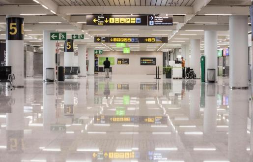 Terminal de llegadas del aeropuerto de Palma.